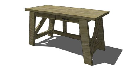 small desk plans free diy furniture plans to build a pottery barn inspired
