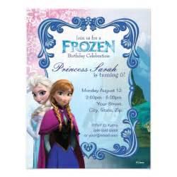 frozen birthday invitation zazzle