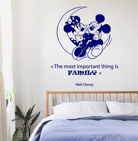 Disney Wall Decals For Nursery Family Wall Decals Disney Mouse On A Moon Wall Quotes Children Vinyl Sticker Baby Wall