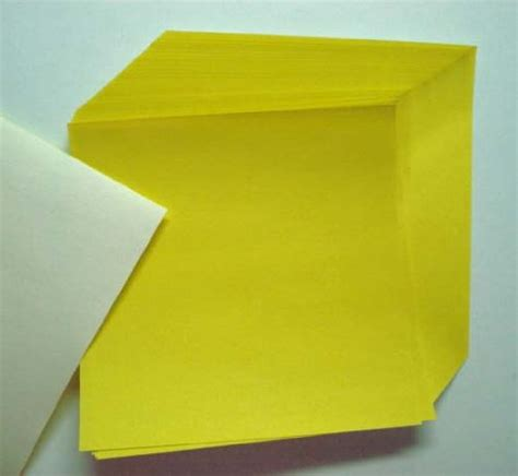 Sheet Origami Paper - yellow origami paper 50 sheets n8288