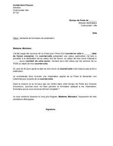 Modele Declaration De Perte De Clef