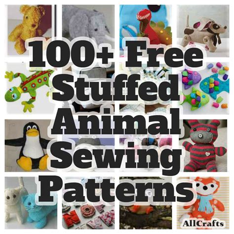 all crafts 100 free stuffed animal sewing patterns allcrafts free