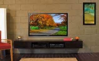Wall Mount Entertainment Shelf Wall Mounted Tv Stand Entertainment Console Mayan By