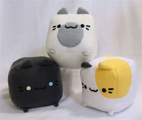 stuffed cat pillow cat plush cat pillow plushie stuffed cat cube