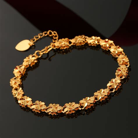 gold bracelets for real gold plated bead chain