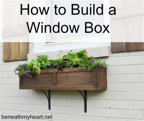 how to make a window box how to build a window box beneath my