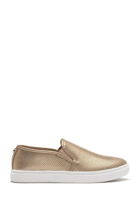 Steve Madden Zach Gold by Steve Madden Zach Perforated Slip On Sneaker Nordstrom Rack