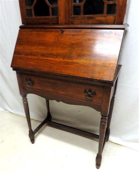 antique drop front desk with bookcase antique mahogany desk drop front bookcase book