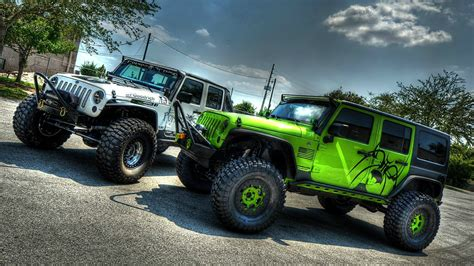 Jeep Background Two Cars Jeep Wrangler Wallpapers And Images Wallpapers