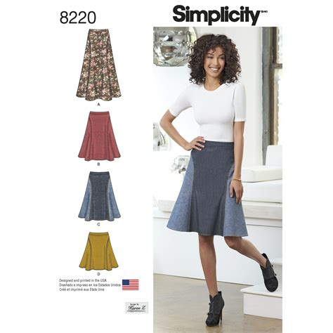 pattern review simplicity 1280 simplicity 8220 misses easy to sew skirt in three lengths