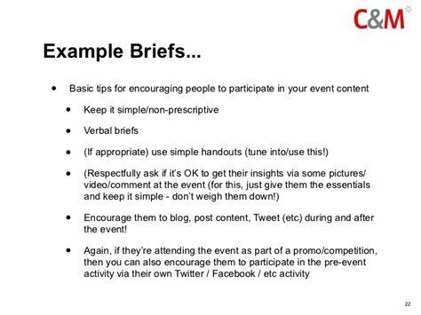 Social Media Briefformat your social media event kit bag