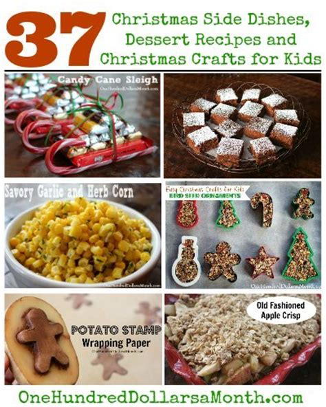 christmas crafts and recipes side dishes dessert recipes and crafts for