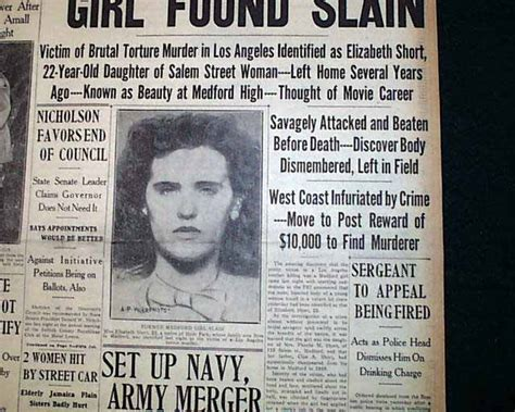 news articles from 2015 view articles from 2006 2007 2008 terrific quot black dahlia quot newspaper report from 1947