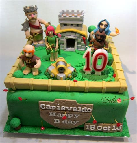 themes coc clash of clans cake clash of clans party pinterest