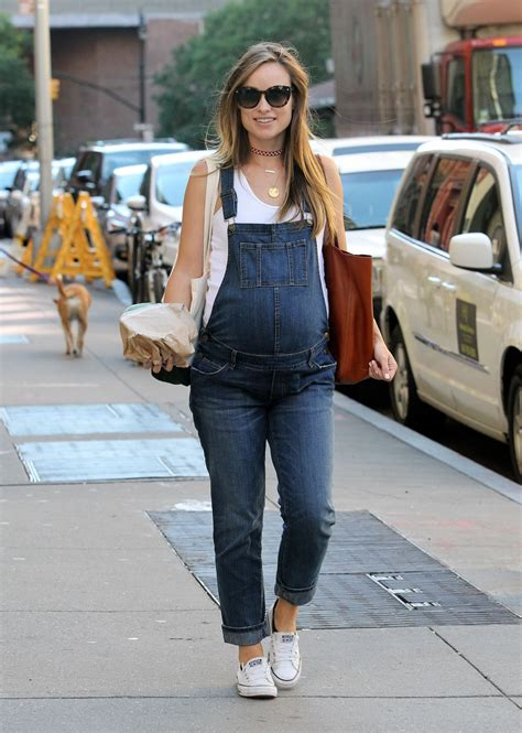 celeb pregnancy news pregnant olivia wilde out and about in new york 09 23 2016