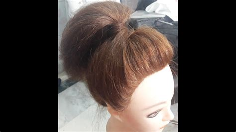 front puff pony front puff easy high ponytail hairstyle with front puff