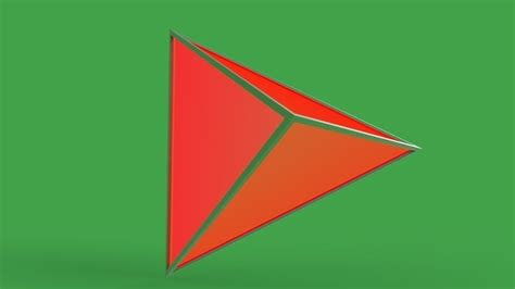 triangular based pyramid  model cgtrader