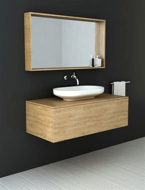 Timber Bathroom Vanities Timber Vanities With Basins By Omvivo A Ideal Fit For Minimalist Contemporary Bathrooms Decor