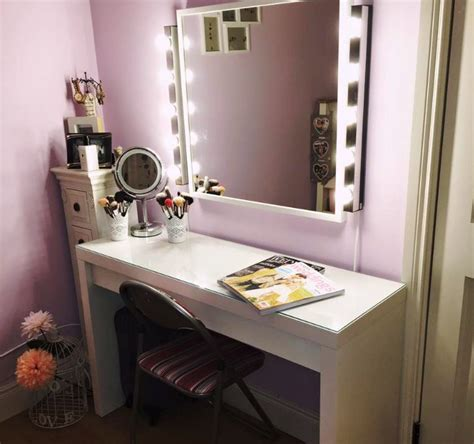 white desk with mirror and lights white small makeup desks finding desk