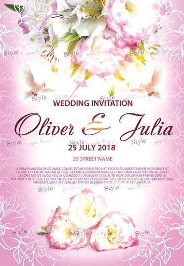 wedding invitation psd flyer template 25032 styleflyers