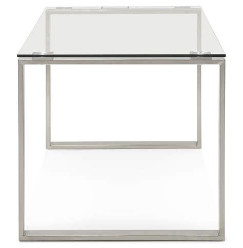 glazen tafel kopen meubelklik eettafel bureau vitro 160x80 bestel online