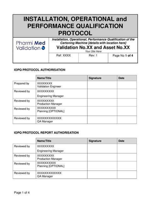 operational qualification protocol template iopq template for a cartoning machine sle by pharmi