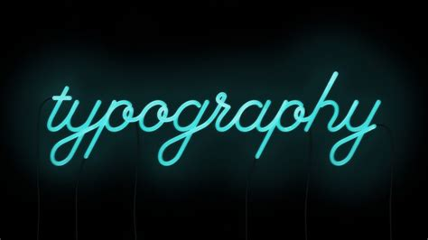 Neon Lights Font by Neon Typography By Will Really Cursive
