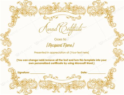 award certificate design template pin templates