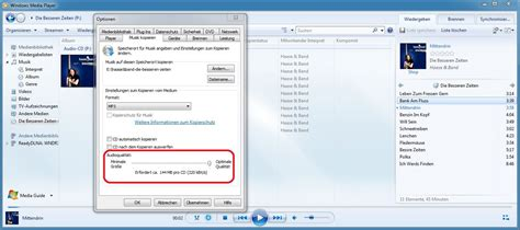 format audio windows media player audio cds mit dem windows media player ins mp3 format