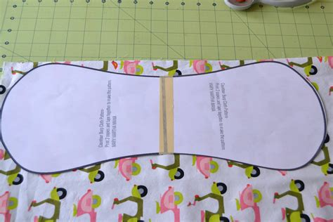 Contour Baby Burp Cloth Pattern Mary Martha Mama Contoured Burp Cloth Template