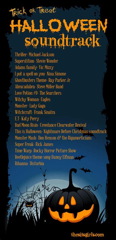 halloween themed songs trick or treat halloween playlist