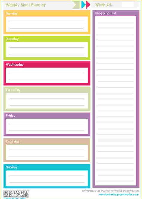 week by week planner template printable weekly planner template weekly planner template