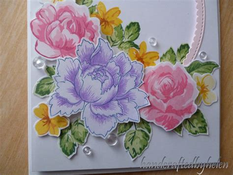 Floral Flowers by Handcrafted By Helen Floral Layered Sts Card