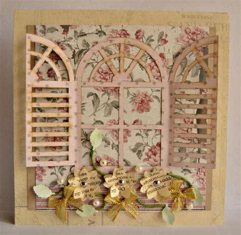 Handmade Vintage Cards - vintage shutter handmade card allfreepapercrafts