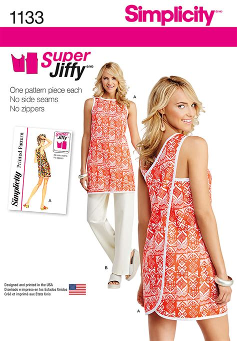 simplicity pattern website simplicity 1133 misses super jiffy tunic and pants sewing