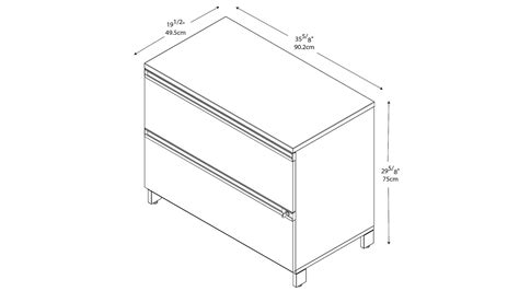 standard 2 drawer file cabinet dimensions home