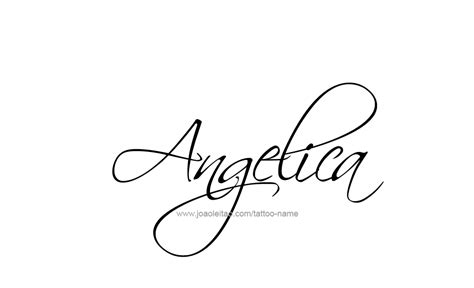 angelica name tattoo designs