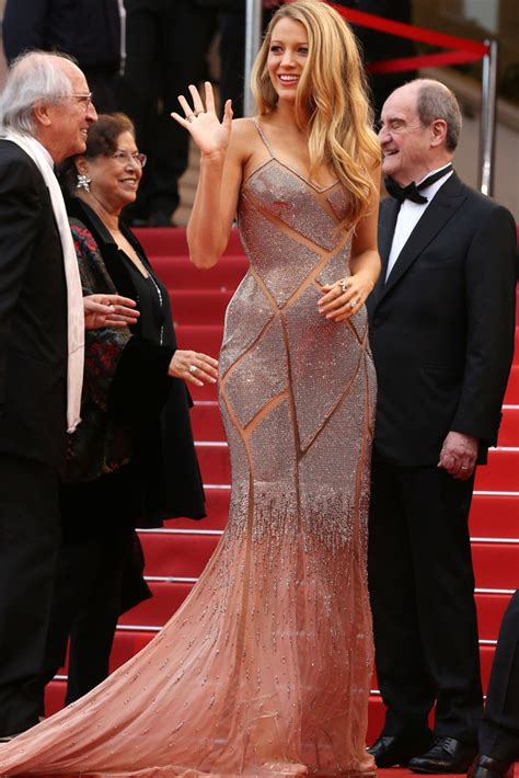 the gorgeous stars at the cannes film festival popsugar celebrity blake lively wears versace louboutin for cannes opening