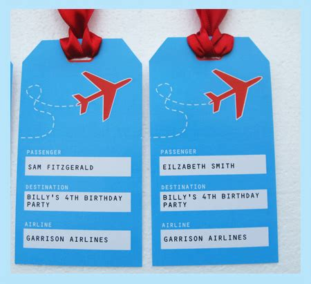 Airplane Party Printables Invitations Decorations Airplane Birthday Invitation Template