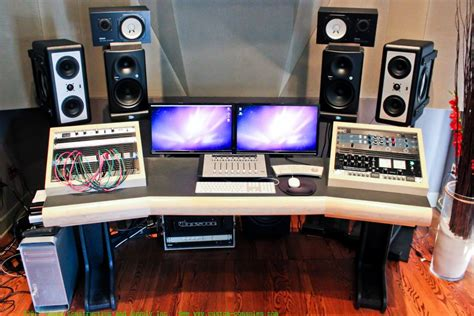 producer studio desk home decor simple home recording