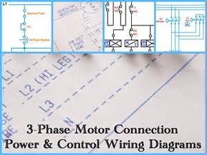 Three phase motor power amp control wiring diagrams electrical