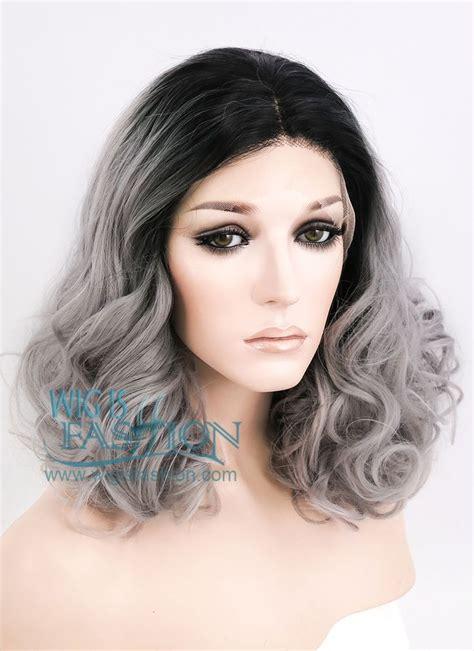 cheap haircut elk grove 14 quot medium curly wavy black mixed grey lace front