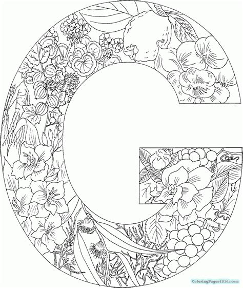 Coloring Pages Of Things by Coloring Pages Of Things With Letter G Coloring Pages