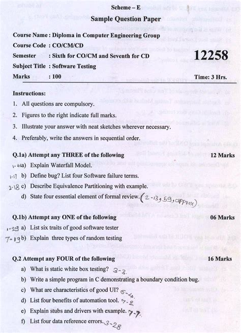 technical writing question paper maharashtra state board of technical education msbte