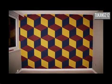 Wallpaper Dinding Motif 3d Bulat 888180 cara mengecat dinding rumah unik cara mengecat dinding motif garis garis 3d