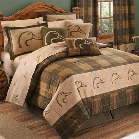 duck crib bedding ducks unlimited plaid bedding collection
