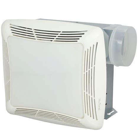 nutone  cfm ceiling bathroom exhaust fan  light white grille  light rl  home depot