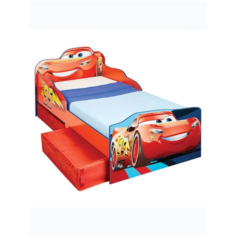 disney car bed disney cars lightning mcqueen toddler bed with storage