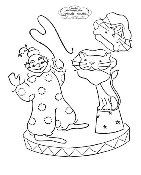 lion tamer coloring page 17 best images about circus embroidery patterns on
