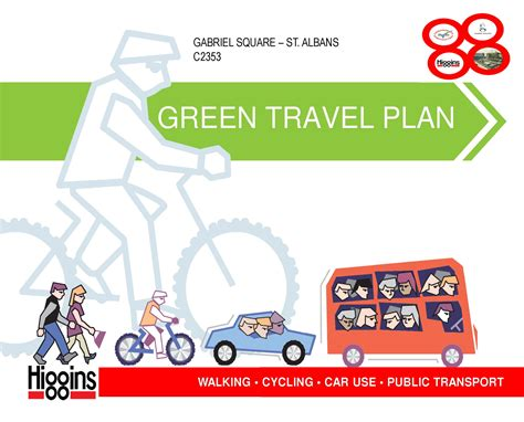green plans 187 green travel plan for gabriel square best practice hub